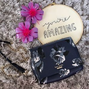 *REDUCED* Kate Spade Floral/Silver Chain Crossbody